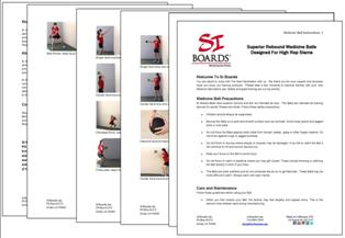 Si Boards Medicine Ball Instructions