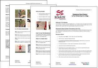 Si Boards Resistance Band System Instructions