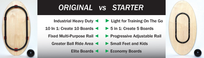 Original vs Starter Si Board. Which is the right balance board for you?
