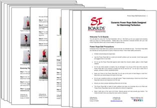 Si Boards Power Rope Ball Instructions